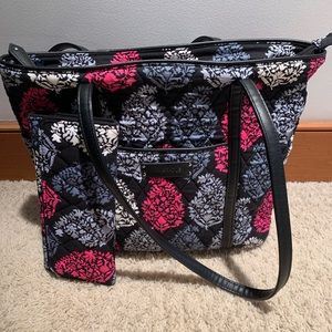 Vera Bradley Tote and Trifold Wallet